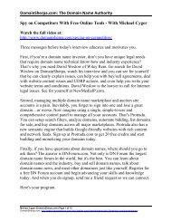 DomainSherpa.com: The Domain Name Authority Spy on ...