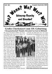 September 2005 - Wann? Wo? Wer? Wie? in Schnarup-Thumby