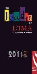La brochure du programme complet des Jeudis de l'IMA pour les ...