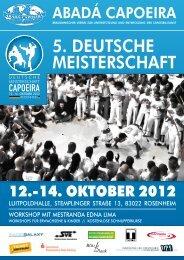 Plakat zur Deutschen Meisterschaft 2012 - 5. deutsche meisterschaft ...