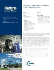 MTU Aero Engines keeps priority  jobs on track with Platform LSF®