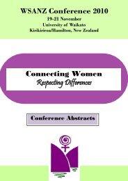 Abstracts - Women's Studies Association
