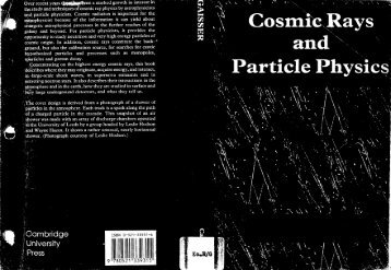 Thomas K. Gaisser. Cosmic Rays and Particle Physics.