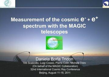 spectrum with the MAGIC telescopes - indico@ihep.ac.cn