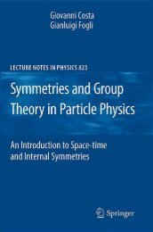 Symmetries and Group Theory in Particle Physics: An Introduction to ...