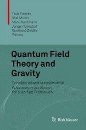 Quantum Field Theory and Gravity: Conceptual and Mathematical ...