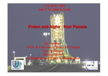 Proton and Alpha from Pamela