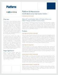 Integration Fact Sheet - Platform Computing