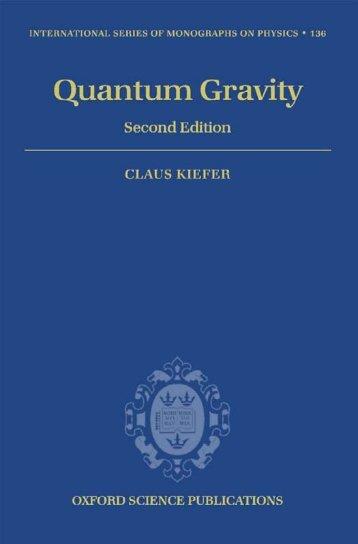 Kiefer C. Quantum gravity