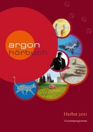 Herbst 2011 - Argon Hörbuch