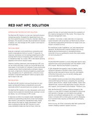 Red Hat HPC Solution - Platform Computing