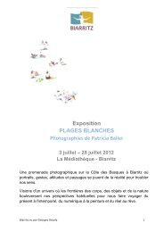 Exposition PLAGES BLANCHES Photographies de Patricia Bailer