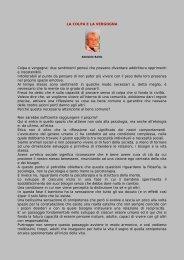 LA COLPA E LA VERGOGNA Colpa e vergogna - Psicoterapeuti.info
