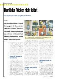 Damit der Rücken nicht leidet: Wirtschaftliche ... - VESA GmbH