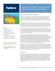 Optimize your FLUENT® environment with Platform  HPC Management