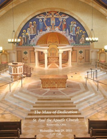 St Paul Dedication Booklet.indd - St. Paul The Apostle Catholic Church