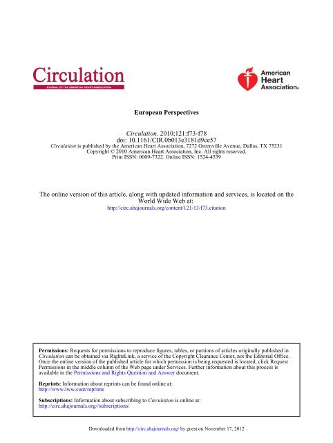 Spotlight: Christian Seiler, MD, FESC, FACC - Circulation