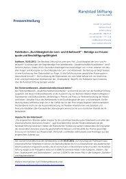 Presse-Kit herunterladen - Randstad Stiftung