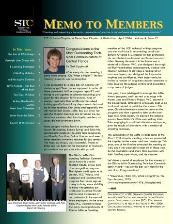 April 2006 Memo to Members HIGH RES - Orlando Chapter STC