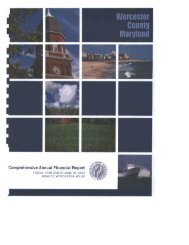 2012 Comprehensive Annual Financial Report - Worcester County