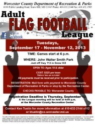 Adult Flag Football League - Worcester County