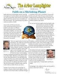 Faith on a Shrinking Planet - Arbor Acres