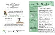 Asbury Place Newsletter - Arbor Acres