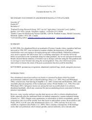 Abstract No 201/259 - Peatland Ecology Research Group