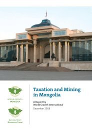 Review of Taxation and Mining in Mongolia Using - ITS Global