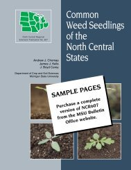 Common Weed Seedlings of the North Central States