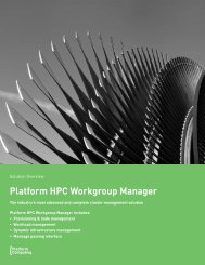 Platform HPC Workgroup Manager - Platform Computing