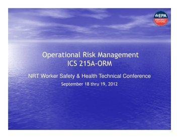 Operational Risk Management ICS 215A-ORM