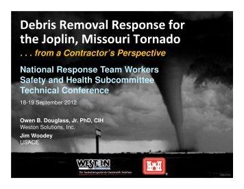 Debris Removal Response for the Joplin, Missouri Tornado