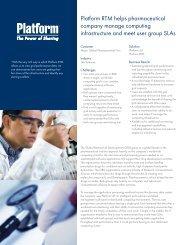 Platform RTM helps pharmaceutical company manage computing ...