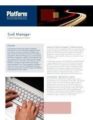 Scali Manage™ - Platform Computing