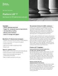Platform LSF 7 - Platform Computing