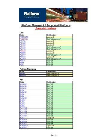 Platform Manager 5 7 Certified Nodes Final - Platform Computing
