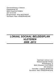 LOKAAL SOCIAAL BELEIDSPLAN 2008 – 2013 - Gemeente Vleteren
