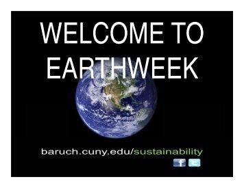 earthweek - Blogs@Baruch