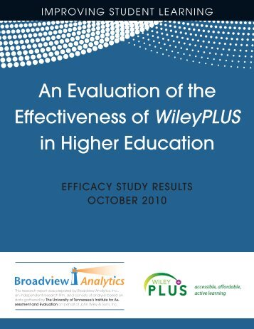 An Evaluation of the Effectiveness of WileyPLUS in ... - Blogs@Baruch