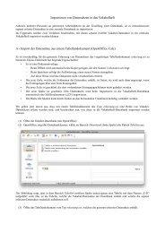 Importieren von Datensätzen in das Vokabelheft A - Import der ...