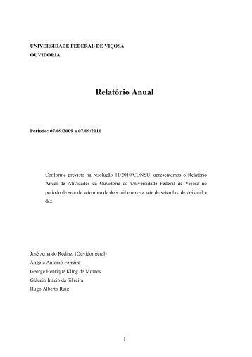 A Comisso de Ouvidoria Atual: - DTI- Diretoria de Tecnologia da ...