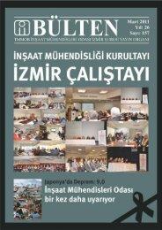 Mart 2011 - Sayı: 157 (4398 KB) - İzmir - İnşaat Mühendisleri Odası