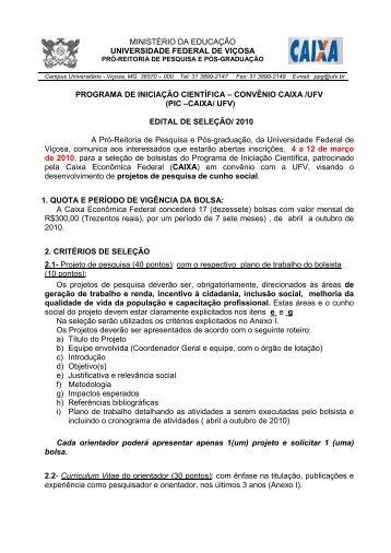 PIC-CAIXA/UFV - DTI- Diretoria de Tecnologia da Informação