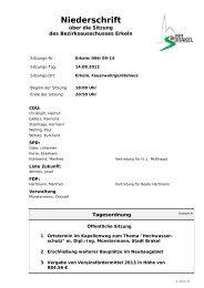 Öffentl. Niederschrift Ausschüsse - Sitzung 14.08.2013 6 ... - Erkeln