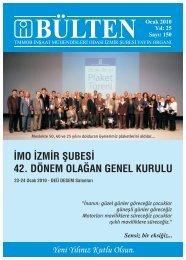Ocak 2010 - Sayı: 150 - İzmir - TMMOB İnşaat Mühendisleri Odası