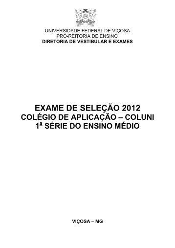 ManualColuni2012 - DTI- Diretoria de Tecnologia da Informação