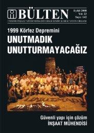 Eylül 2008 - Sayı: 142 (10671 KB) - İzmir - TMMOB İnşaat ...