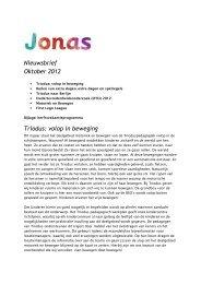 Nieuwsbrief Oktober 2012 Triodus: volop in beweging