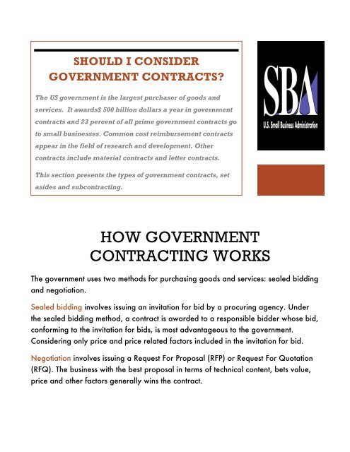 How Government Contracting Works Blogs Baruch Cuny